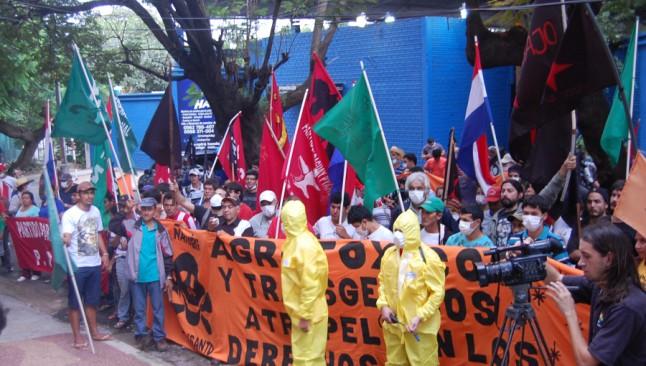 Paraguay - manifestação contra Monsanto