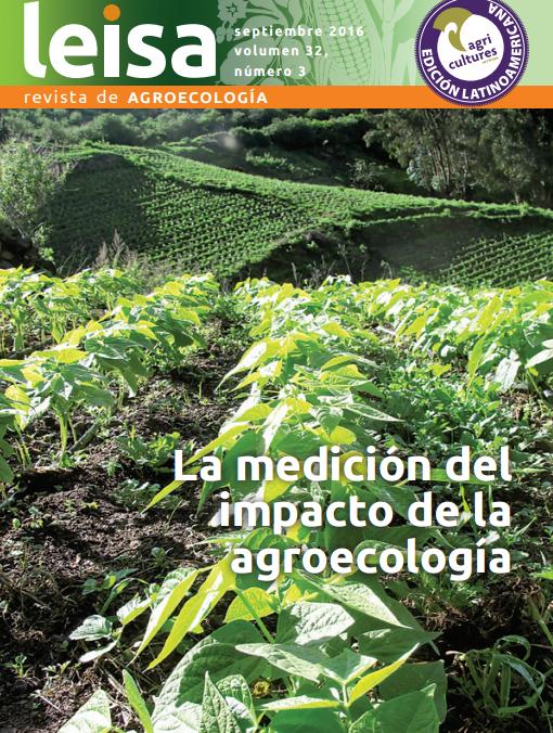 Revista Leisa - la medición del impacto de la agroecología - capa